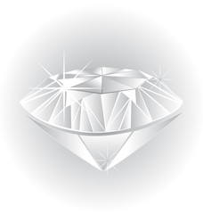 White diamond wedding symbol logo icon