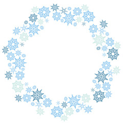 Large Christmas Snowflake Circle Pattern