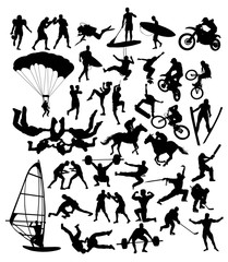 Extreme Sport Silhouettes, art vector design