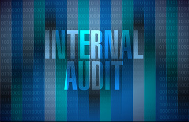 Internal Audit binary background sign concept