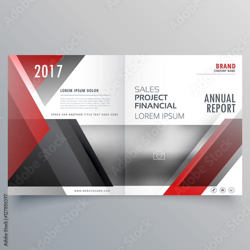 Brochure Magazine Cover Page Template Layout In Red And Black Sh