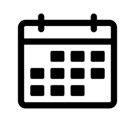 Calendar or appointment schedule line art icon for apps and websites