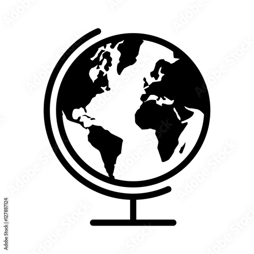 Geographical map globe with planet earth flat icon for apps and geographical map globe with planet earth flat icon for apps and websites gumiabroncs Images