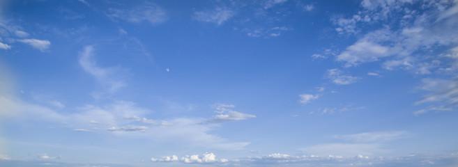 Beautiful heavenly landscape. Clouds float across the sky.