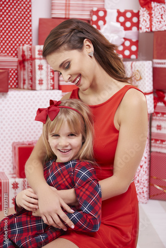 Strong bond between mother and daughter stock photo and for The bond between mother and daughter