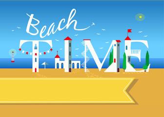 Beach time. Travel card