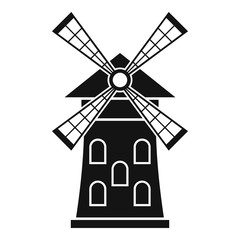 Windmill icon. Simple illustration of windmill vector icon for web
