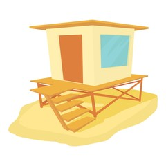 Bungalow icon. Cartoon illustration of bungalow vector icon for web