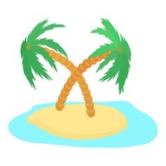 Island icon. Cartoon illustration of island vector icon for web