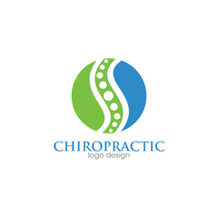 Medical Chiropractic Creative Concept Logo Design Template