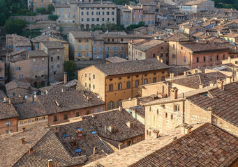 Roofs of houses. Urbino. Italy, Marche