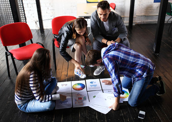 Startup Diversity Teamwork Brainstorming Meeting Concept.Business Team Coworker Global Sharing Economy Laptop.People Working Planning Start Up.Group Young Man Woman Looking Report