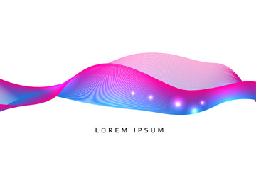 Abstract background. curve and line color concept. vector illust