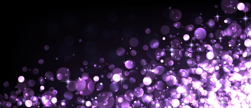 Abstract festive lilac luminous background.