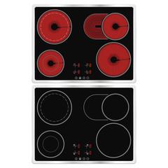 Black ceramic cook top