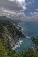 Sea view of romantic Vernazza