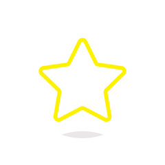Star outline yellow