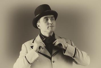 Vintage style male portrait