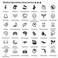 Medical Specialties (Gray Series)