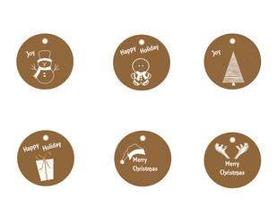 set etichette regali di natale