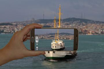 Bosphorus in Istanbul, Turkey.