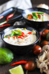 coconut soup tom-yam