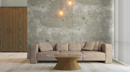 cozy corner in a residential home. Interior living room. 3d rend