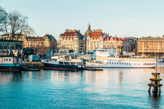 Boats and Buildings of Stockholm, Sweden