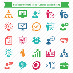 Business Ultimate Icons - Colored Series (Set 4)