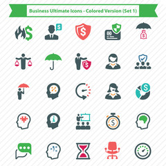 Business Ultimate Icons - Colored Version (Set 1)