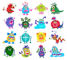 Scary monster vector set