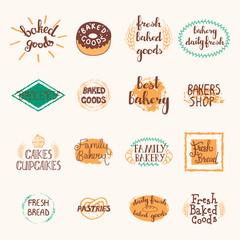 Bakery Labels Set