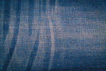 Blue jeans texture background .