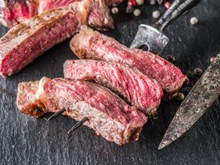 Medium Ribeye steak.
