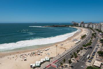 Copacabana Beach View From High Angle, Rio de Janeiro