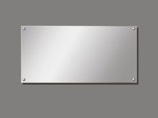 Aluminum Company editable plate fastened with rivets