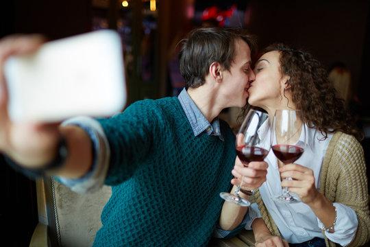 Selfie of kiss