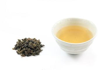 Oolong tea in tea cup
