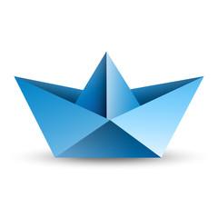 łódka origami wektor