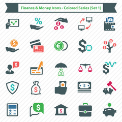 Finance & Money Icons - Colored Series (Set 3)
