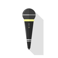 Microphones and earphone realistic colorful icon