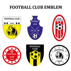 Set of different Soccer Football emblem or Logo Template