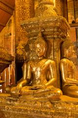 Ancient Buddha image in Wat Phumin Nan Thailand.