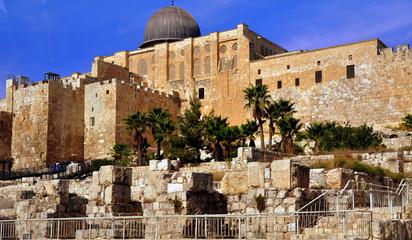 Al-Aqsa-Moschee auf dem Tempelberg in Jerusalem