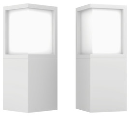 Lightbox isolated On white Background 3D rendering