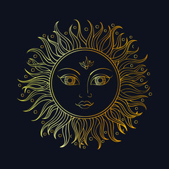 ethnic sun ornament.