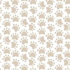 Dog paw pattern.Vector animal footprint.Pet Track