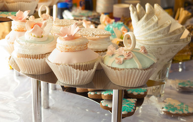 Wedding Cake and Candy Bar