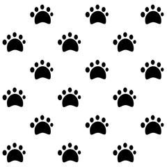 Dog Tracks.Vector Dog paw pattern isolated on a white background.Vector animal footprint.Pet Track
