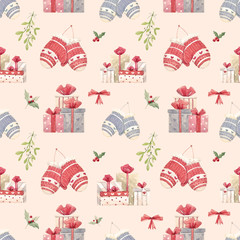 Christmas new year pattern